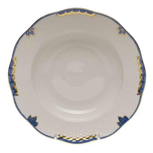 Herend Princess Victoria Blue Rim Soup Plate $125.00