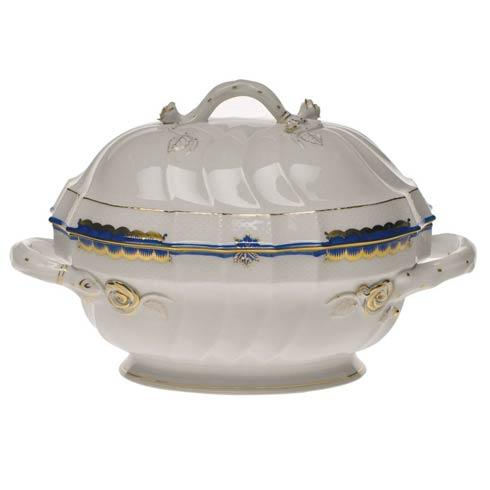 Herend Princess Victoria Blue Tureen W/Branch $1,195.00