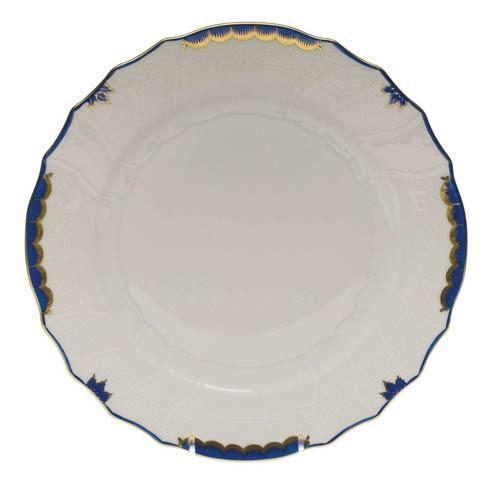 Herend Princess Victoria Blue Dinner Plate $110.00