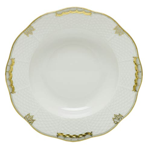Herend Collections Princess Victoria Gray Rim Soup Plate  $125.00