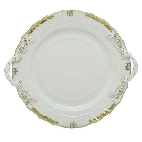 Herend Princess Victoria Gray Chop Plate with Handles - Multicolor $360.00