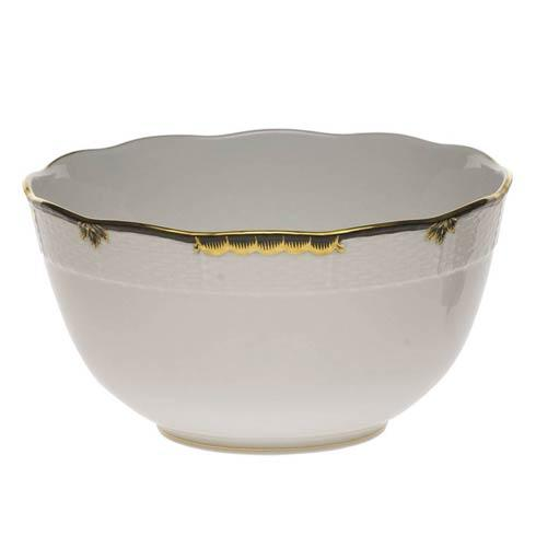 Herend  Princess Victoria Black Round Bowl $135.00