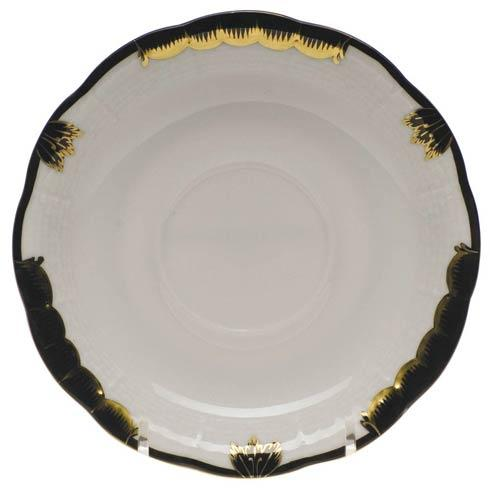 Herend  Princess Victoria Black Tea Saucer $40.00