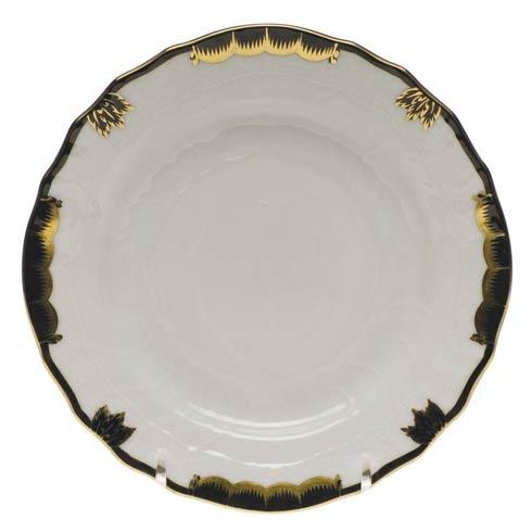 Herend  Princess Victoria Black Bread & Butter Plate $70.00