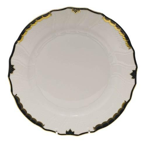 Herend  Princess Victoria Black Dinner Plate $110.00