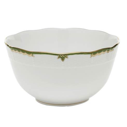 Herend Princess Victoria Dark Green Round Bowl $135.00