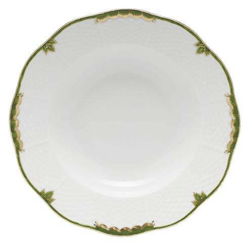 Herend  Princess Victoria Dark Green Rim Soup Plate $125.00