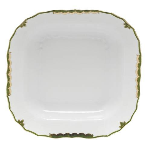 Herend  Princess Victoria Dark Green Square Fruit Dish $290.00