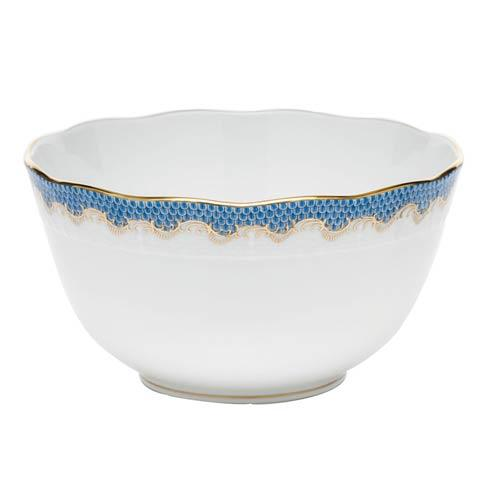 Herend Fish Scale Blue Round Bowl - Blue $340.00