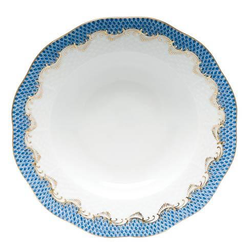 Herend Fish Scale Blue Rim Soup - Blue $240.00