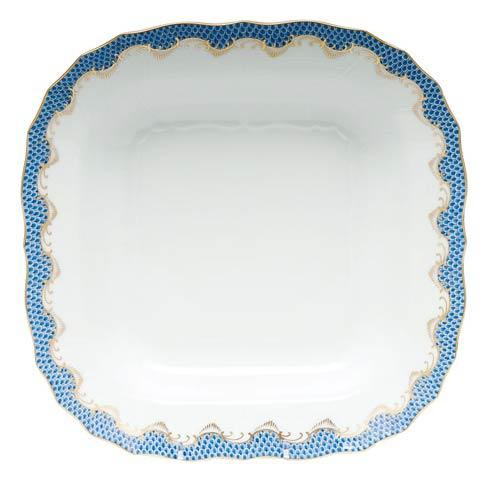 Herend  Fishscale Blue Square Fruit Dish - Blue $575.00