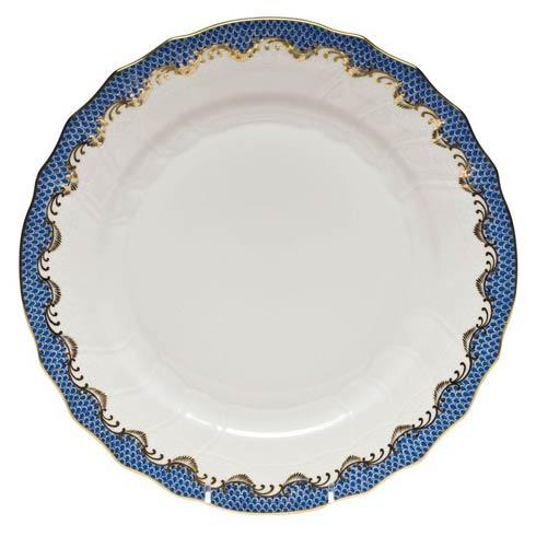 Herend Fish Scale Blue Dinner Plate - Blue $310.00