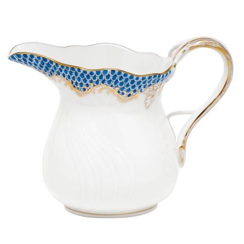 Herend Fish Scale Blue Creamer  - Blue $205.00