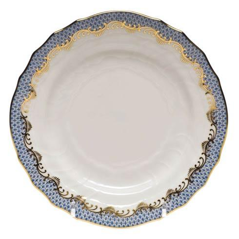 Herend  Fishscale Light Blue Bread & Butter Plate - Light Blue $190.00