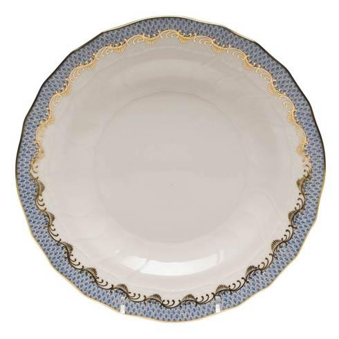 Herend Fish Scale Light Blue Dessert Plate - Light Blue $235.00