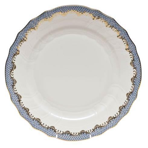 Herend Fish Scale Light Blue Dinner Plate - Light Blue $310.00