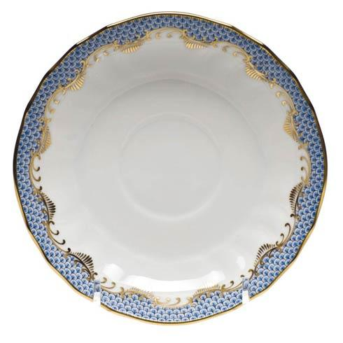 Herend Fish Scale Light Blue Canton Saucer - Light Blue $95.00
