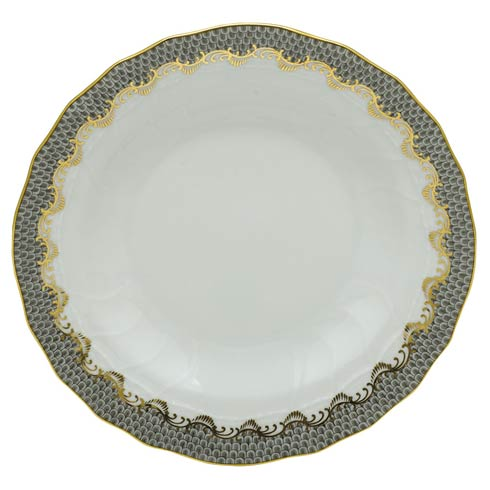 Herend Collections Fishscale Gray Rim Soup Plate   $265.00