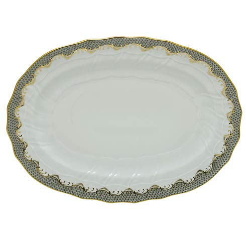 Herend Fish Scale Gray Platter - Gray $660.00