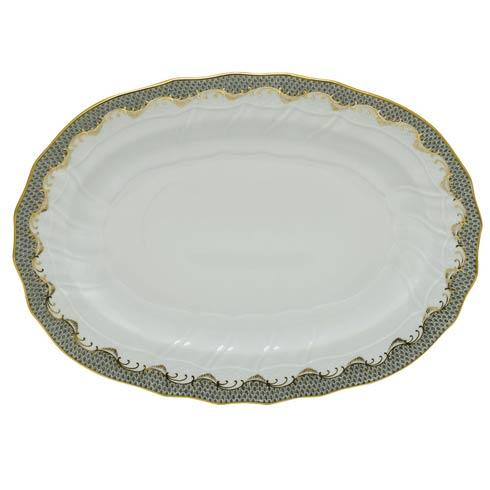 Herend  Fishscale Gray Platter - Gray $725.00