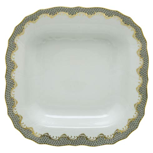 Herend Collections Fishscale Gray Square Fruit Dish $575.00