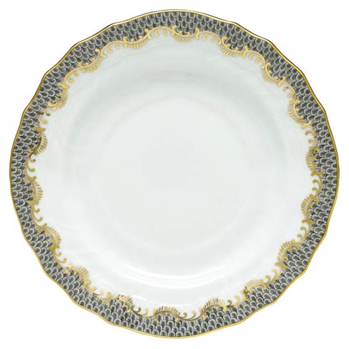 Herend  Fishscale Gray Bread & Butter Plate - Gray $190.00