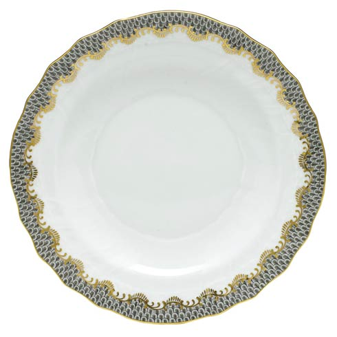 Herend  Fishscale Gray Salad Plate - Multicolor $215.00