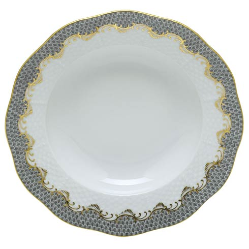 Herend Fish Scale Gray Dessert Plate -  Gray $215.00