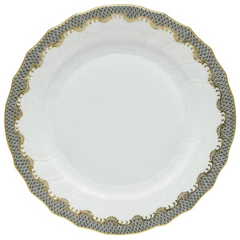 Herend  Fishscale Gray Dinner Plate - Gray $310.00