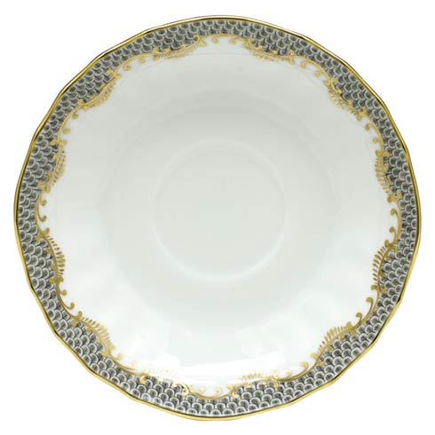 Herend Fish Scale Gray Canton Saucer - Gray $105.00