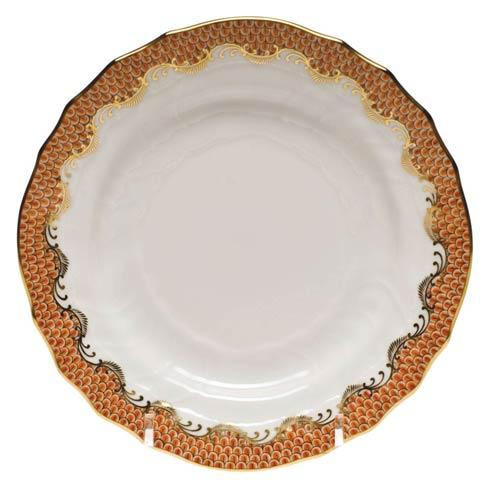 Herend Fish Scale Rust Bread & Butter Plate - Rust $175.00