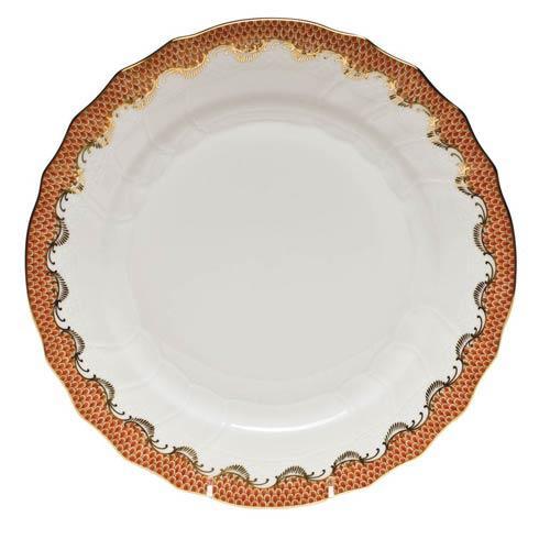 Herend Fish Scale Rust Dinner Plate - Rust $310.00