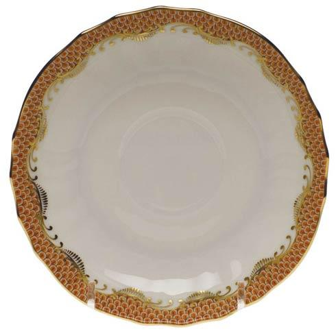 Herend Fish Scale Rust Canton Saucer - Rust $95.00