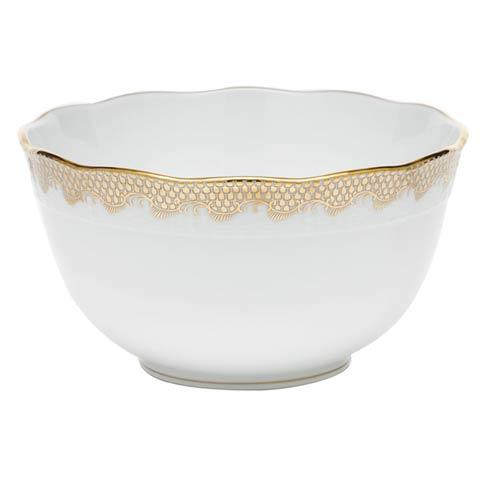 Herend  Fishscale Gold Round Bowl - Gold $375.00