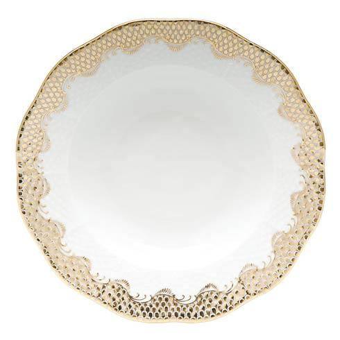 Herend  Fishscale Gold Rim Soup  - Gold $265.00
