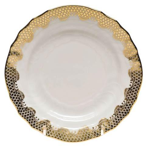 Herend Fish Scale Gold Bread & Butter Plate - Gold $175.00