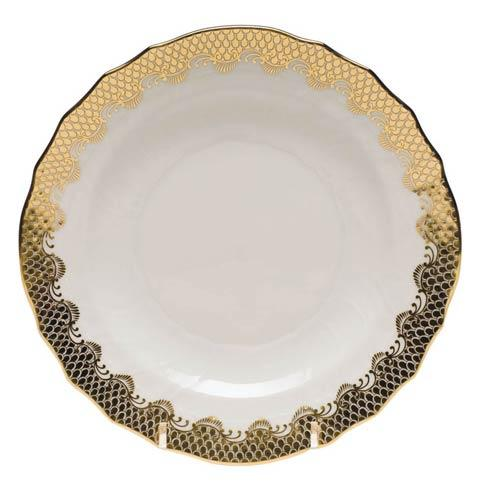 Herend Collections Fishscale Gold Salad Plate   $215.00