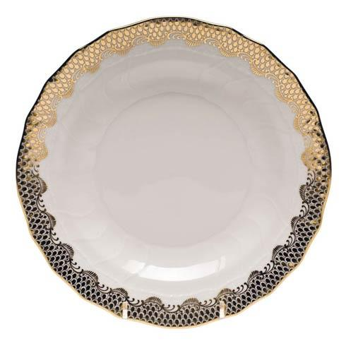 Herend Fish Scale Gold Dessert Plate - Gold $215.00