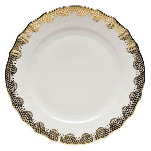 Herend Fish Scale Gold Dinner Plate - Gold $280.00