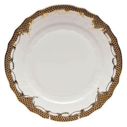Herend  Fishscale Brown Dinner Plate - Brown $310.00