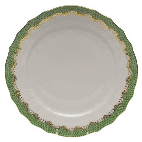 Herend  Fishscale Jade Service Plate - Jade $370.00