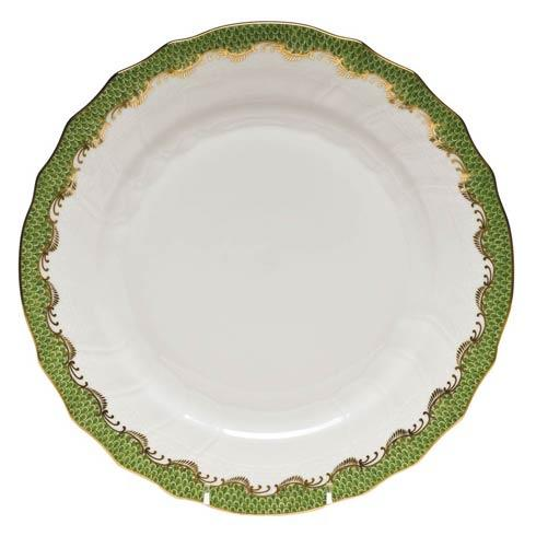 Herend Fish Scale Evergreen Dinner Plate - Evergreen $280.00