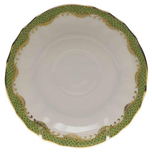 Herend Fish Scale Evergreen Canton Saucer - Evergreen $95.00