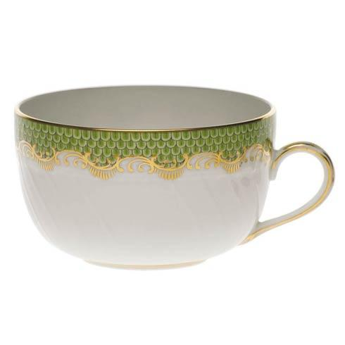 Herend Fish Scale Evergreen Canton Cup - Evergreen $190.00