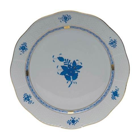 """Herend Chinese Bouquet Blue Round Platter  13.75"""" D $415.00"""