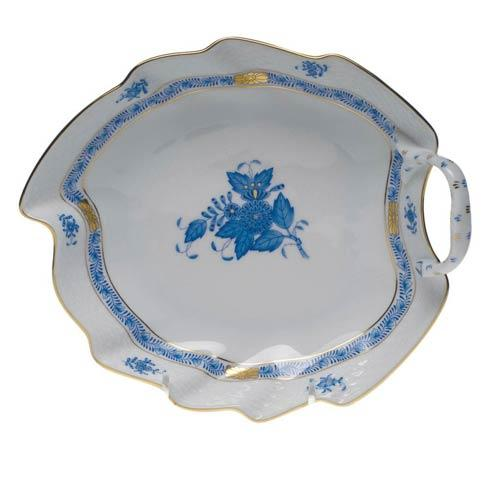 Herend Chinese Bouquet Blue Leaf Dish  7.75