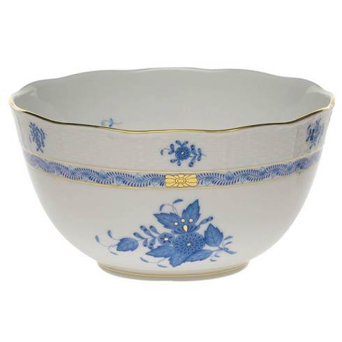 "Herend  Chinese Bouquet Blue Round Bowl  (3.5 Pt) 7.5"" D $200.00"