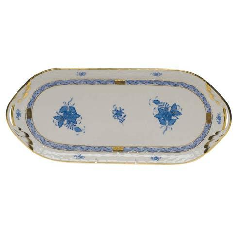 Herend Chinese Bouquet Blue Sandwich Tray  14.5