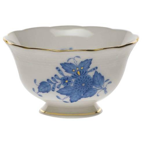Herend Chinese Bouquet Blue Open Sugar Bowl  3