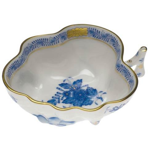 Herend Collections Chinese Bouquet Blue Deep Leaf Dish   $125.00